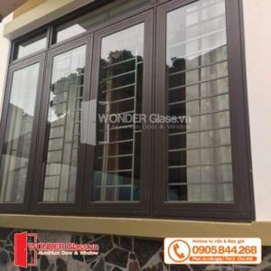 mẫu cửa sổ 4 cánh mở quay đẹp, cửa nhôm xingfa đẹp đà nẵng