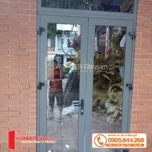 cửa đi 1 cánh mở quay, mẫu cửa nhôm xingfa đẹp đà nẵng