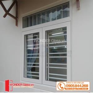 mẫu cửa sổ 2 cánh mở quay, cửa nhôm xingfa đà nẵng