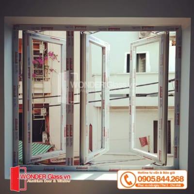 mẫu cửa sổ 3 cánh mở quay, cửa sổ nhôm xingfa đà nẵng