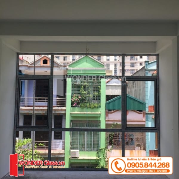 mẫu cửa sổ mở quay, cửa nhôm xingfa đà nẵng