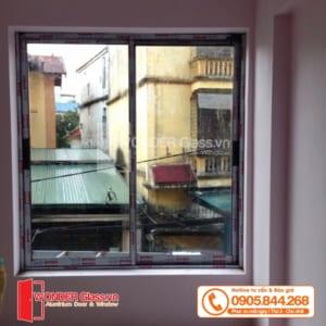 mẫu cửa nhôm xingfa đẹp, cửa sổ 2 cánh mở trượt